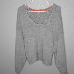 NWT Free People Perfect Day Pullover in Gray